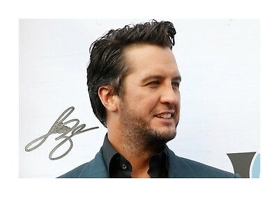 Luke Bryan (2) A4 Signed Landscape Photograph Picture Poster. Choice Of Frame. • 20.99£