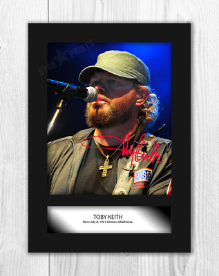 Toby Keith (2) A4 Signed Mounted Photograph Picture Poster. Choice Of Frame. • 27.99£