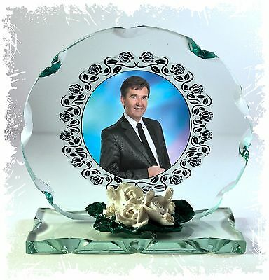 Photo Gift On Crystal Glass Plaque  Of  Daniel O'Donnell  • 27.45£