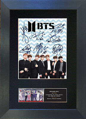 BTS No1 Signed Mounted Reproduction Autograph Photo Prints A4 759 • 5.99£