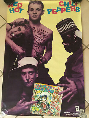 Vintage 1984 The Red Hot Chili Peppers Self Titled Promo Poster Promotional • 156.30£