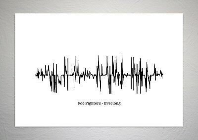 Foo Fighters - Everlong - Sound Wave Print Poster Art • 7.50£