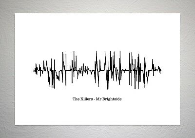 The Killers - Mr Brightside - Sound Wave Print Poster Art • 7.50£