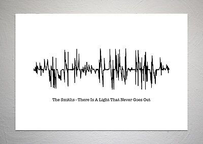 The Smiths - There Is A Light That Never Goes Out - Sound Wave Print Poster Art • 7.50£