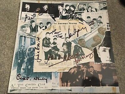 The Beatles Related Signed Photograph Lp Vinyl Photo Paul Mccartney Ringo Starr • 100£