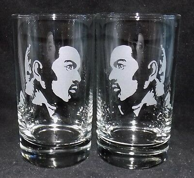 New Etched  GEORGE MICHAEL  Hiball Glasses - Beautiful Gift - Free Gift Box • 16.99£