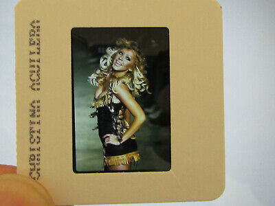 Original Press Promo Slide Negative - Christina Aguilera - Early 2000's - A • 21.99£