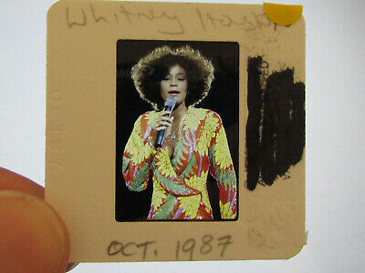 Original Press Promo Slide Negative - Whitney Houston - 1987 - Yellow Dress  • 21.99£