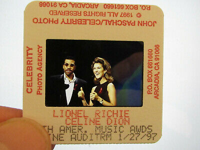 Original Press Promo Slide Negative - Celine Dion & Lionel Richie - 1997 • 15.99£
