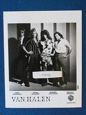 Original Press Photo - 10 X8  - Van Halen - 1984 • 19.99£