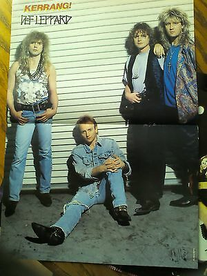 Def Leppard Double Page Poster From Kerrang Magazine • 5.50£