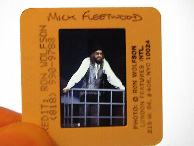 Original Press Promo Slide Negative - Fleetwood Mac - Mick Fleetwood - 1980s - B • 25.99£