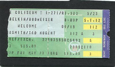 1986 Aerosmith Ted Nugent Concert Ticket Stub Done With Mirrors Richfield OH • 23.44£