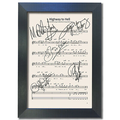 ACDC Highway To Hell MUSIC SHEET Signed Reproduction Autograph Photo Print 801 • 19.99£