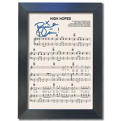PANIC! AT THE DISCO High Hopes MUSIC Signed Reproduction Autograph Prints A4 802 • 19.99£