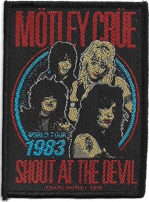 Official Merch Woven Sew-on PATCH Glam Metal Rock MOTLEY CRUE Shout At The Devil • 3.99£