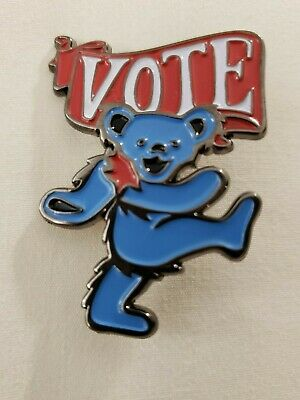 Grateful Dead & Company Dancing Bear Vote Pin  Numbered Limited  Headcount • 107.28£