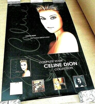 Celine Dion 1997 Let's Talk About Love Original Promo Poster • 7.40£