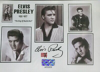 Elvis Presley Signed Photo Display. Birthday Gift ? • 4.95£
