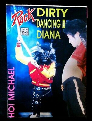 RARE Mega Rock Dirty Dancing With Diana. Michael Jackson Giant Poster Mag 1988. • 45£