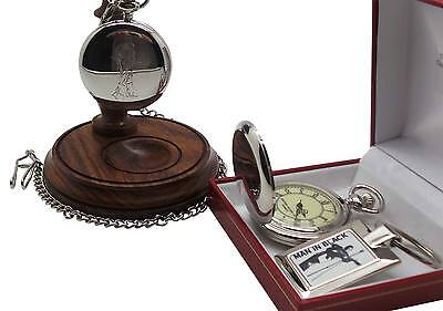 JOHNNY CASH Signed Autographed Pocket Watch Keyring And Wooden Display Stand • 44.95£