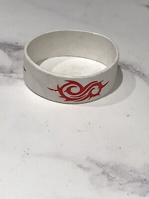 Slipknot Symbol White Embossed Silicone Wristband • 2.99£