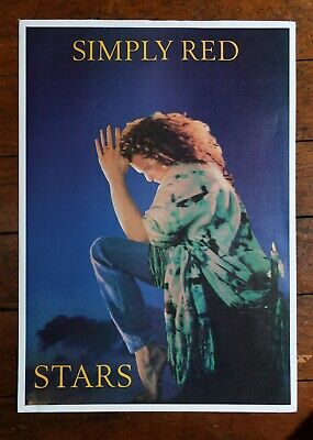 SIMPLY RED Stars ~ 1991 Vintage Poster! • 15£