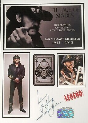 Lemmy Of Motorhead Signed Photo Display. Birthday/Christmas Gift ? • 4.95£