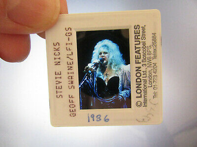 Original Press Photo Slide Negative - Fleetwood Mac - Stevie Nicks - 1986 - F • 31.99£