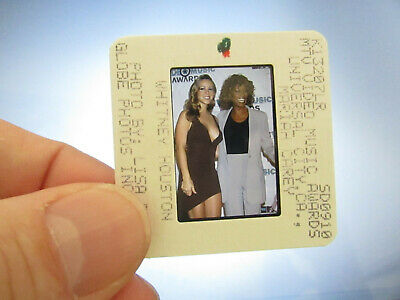 Original Press Photo Slide Negative - Whitney Houston & Mariah Carey - 1998 • 21.99£