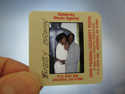 Original Press Photo Slide Negative - Whitney Houston & Bobby Brown - 1992 • 21.99£
