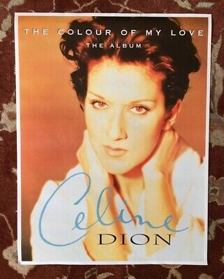 CELINE DION  The Colour Of My Love  Rare Original Promotional Poster • 19.95£
