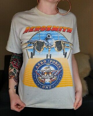 Vintage Aerosmith Done With Mirrors 1986 Tour T-Shirt Size Large Made In USA • 123.71£