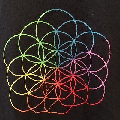 Coldplay A Head Full Of Dreams 2016 Concert Tour Shirt  • 19.68£