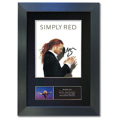 SIMPLY RED Mick Hucknall Signed Mounted Reproduction Autograph Photo Print4 823 • 5.99£