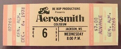 AEROSMITH 1978 EXPRESS (DRAW THE LINE) Tour Vintage Complete Concert Ticket  • 4.41£