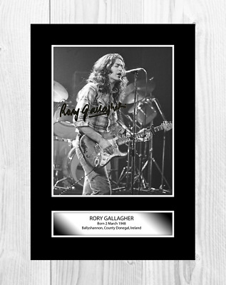 Rory Gallagher 2 A4 Reproduction Autograph Poster With Choice Of Frame • 19.99£
