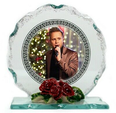 Olly Murs Photo  Cut Glass Ltd Edition Gift  Perfect Keepsake • 27.45£