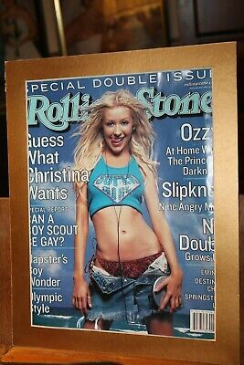 Christina Aguilera Rolling Stone Cover July 2000 Matted To 11x14 • 5.56£