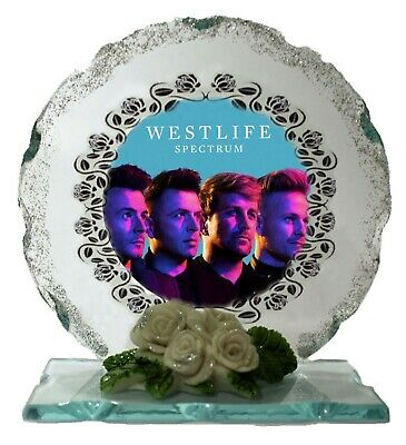 Westlife  Photo  Cut Glass Plaque Ltd Edition Gift  Perfect Keepsake • 27£