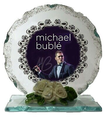 Michael Buble  Photo  Cut Glass Plaque Ltd Edition Gift  Perfect Keepsake • 27.45£