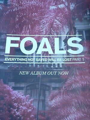 Foals Everything Not Saved Original  Promotional Poster New Unused • 12.99£