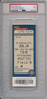 Pearl Jam Wrigley Field Concert Full Ticket 7/19/13 PSA Rain Delay Show Chicago • 62.73£