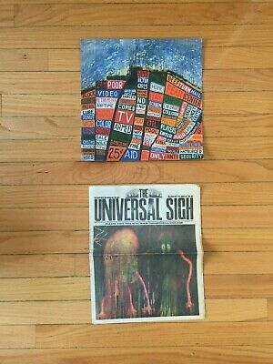 Radiohead Hail To The Thief Poster + The Universal Sigh King Of Limbs Newspaper • 19.95£