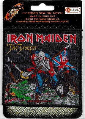 Official Merch Woven Sew-on PATCH Heavy Metal Rock Eddie IRON MAIDEN The Trooper • 4.29£