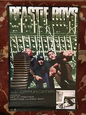 THE BEASTIE BOYS  Ill Communication  Rare Original Promotional Poster From 1994 • 19.84£