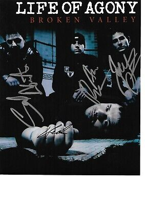 Life Of Agony Hand Signed By All The Band 10 X 8 Inch Colour Photograph • 19.99£