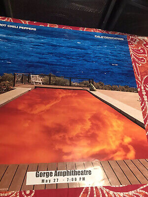 Red Hot Chili Peppers. Gorge Ampihitthearter Show Poster.  Double Sided. • 14.19£
