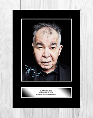John Prine Reproduction Autograph A4 Poster With Choice Of Frame • 27.99£