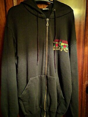 Guns N Roses Hoodie Hoody Zip Up Small • 10£